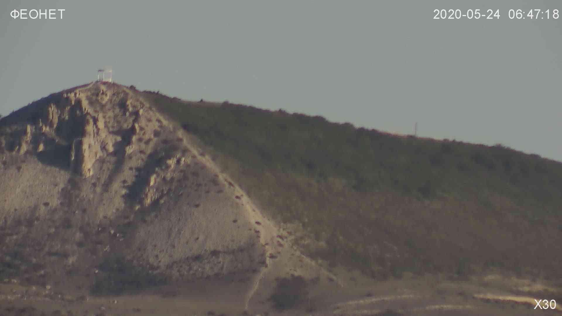 Веб-камеры Феодосии, Обзорная камера в Коктебеле, 2020-05-24 06:48:49