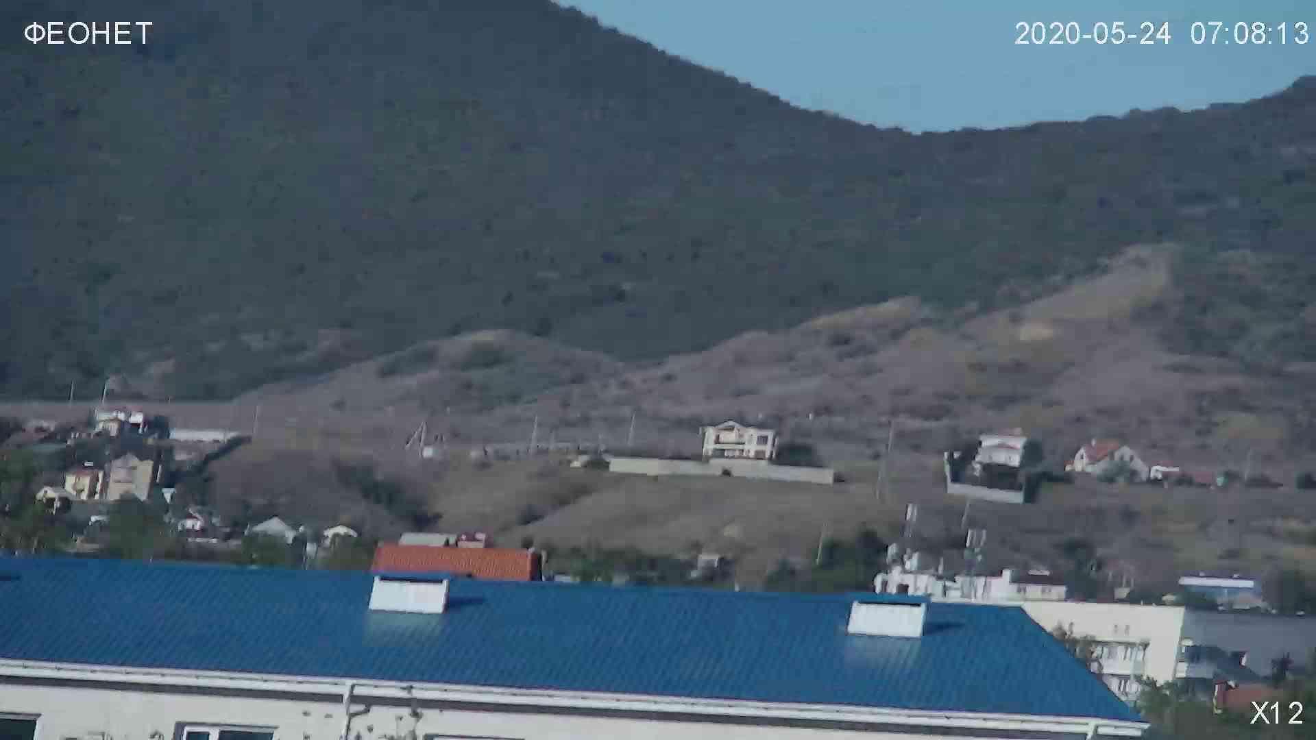 Веб-камеры Феодосии, Обзорная камера в Коктебеле, 2020-05-24 07:09:44