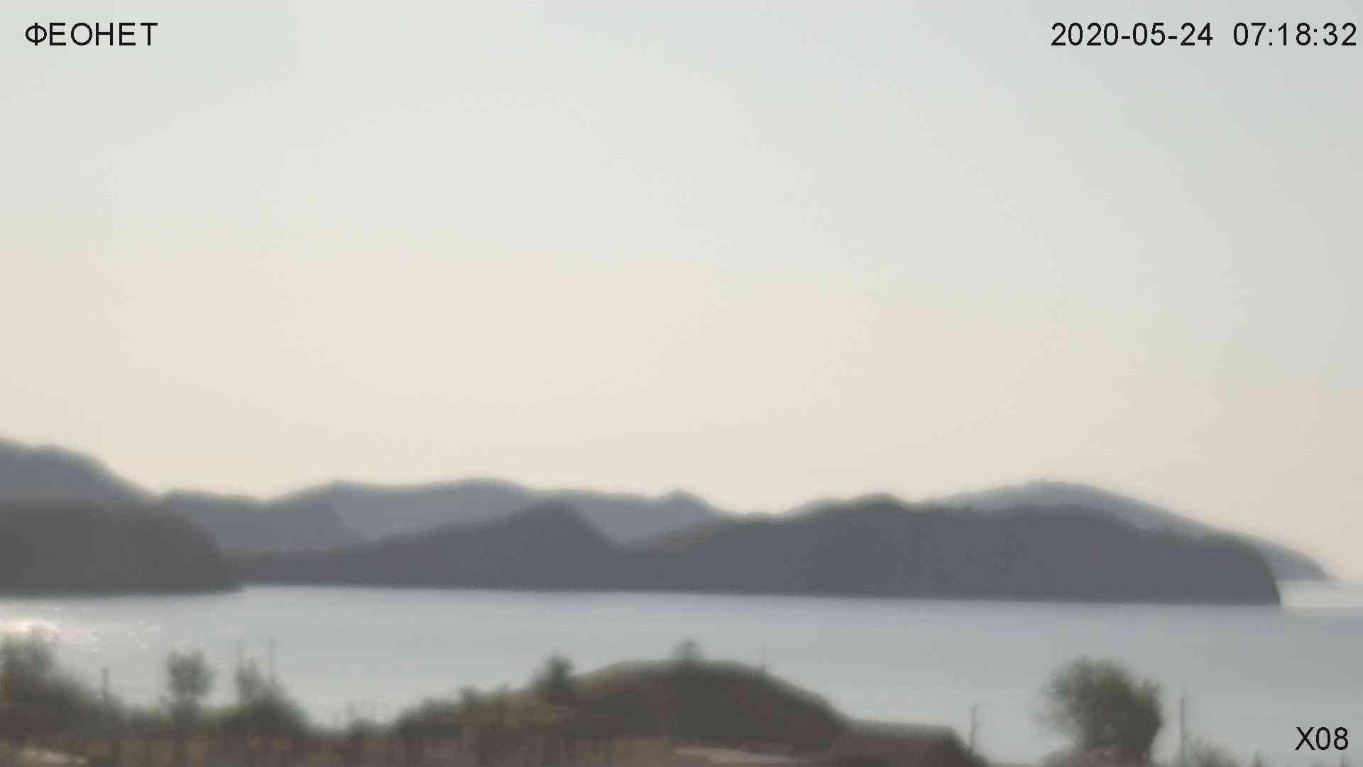 Веб-камеры Феодосии, Обзорная камера в Коктебеле, 2020-05-24 07:20:02