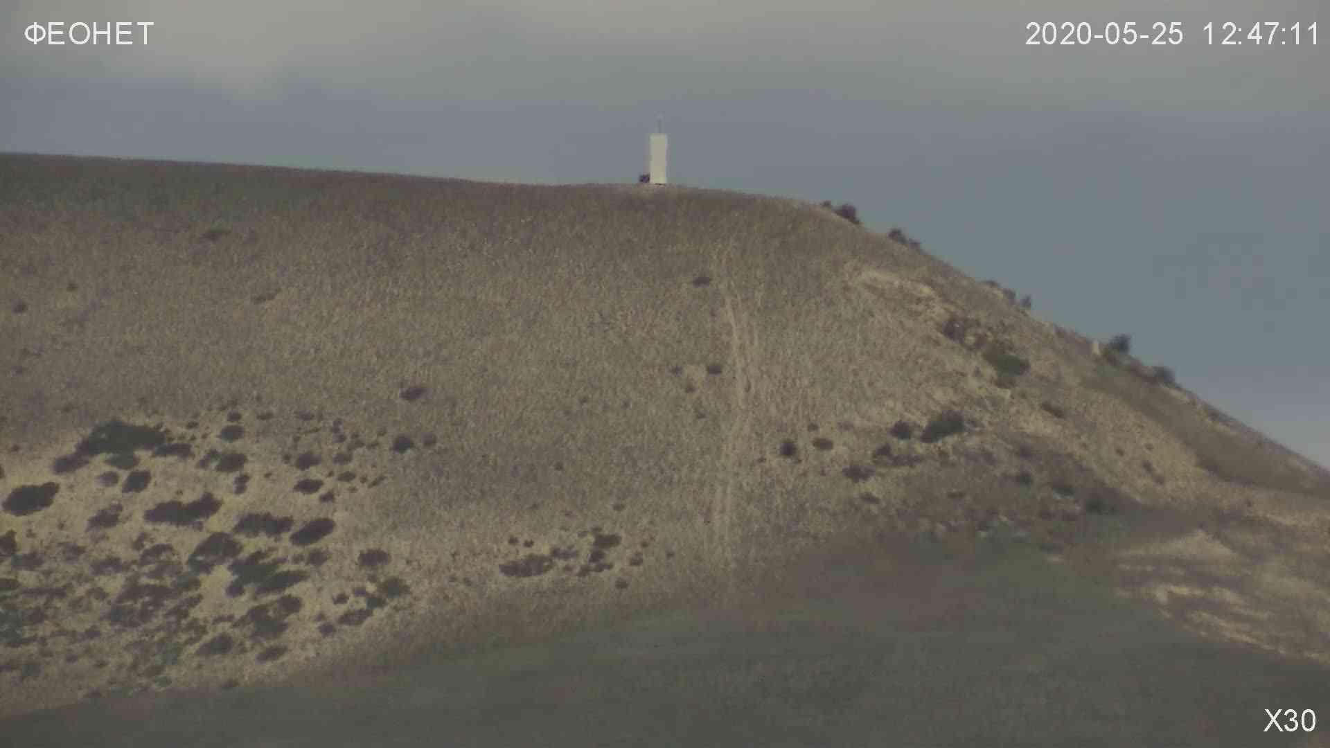 Веб-камеры Феодосии, Обзорная камера в Коктебеле, 2020-05-25 12:48:45