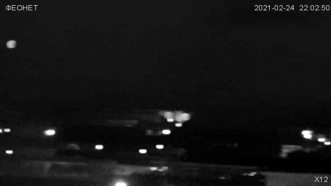 Веб-камеры Феодосии, Обзорная камера в Коктебеле, 2021-02-25 02:20:23