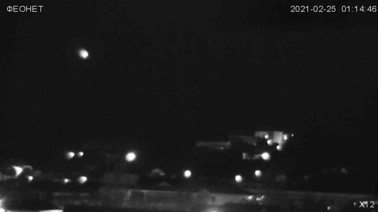 Веб-камеры Феодосии, Обзорная камера в Коктебеле, 2021-02-25 05:32:16