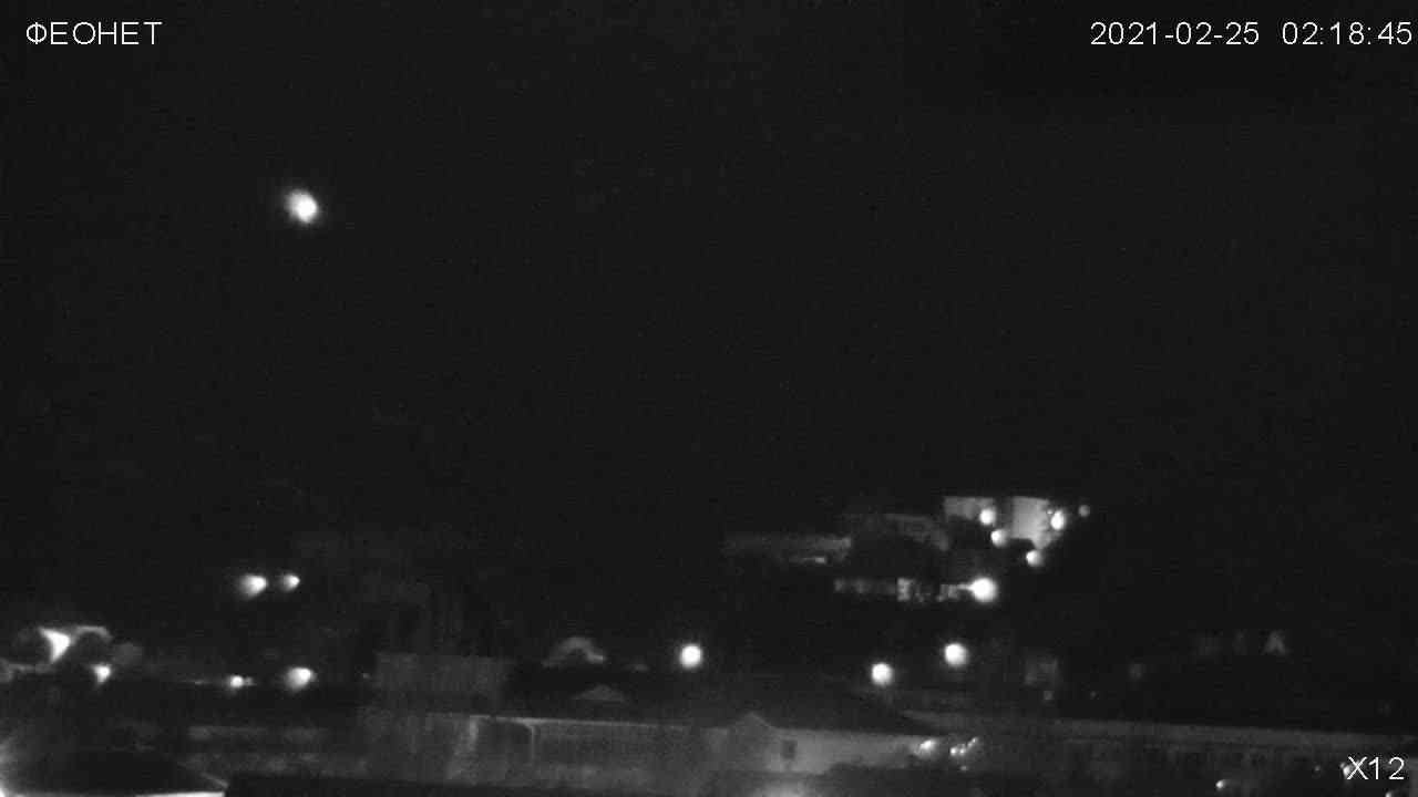 Веб-камеры Феодосии, Обзорная камера в Коктебеле, 2021-02-25 06:36:19
