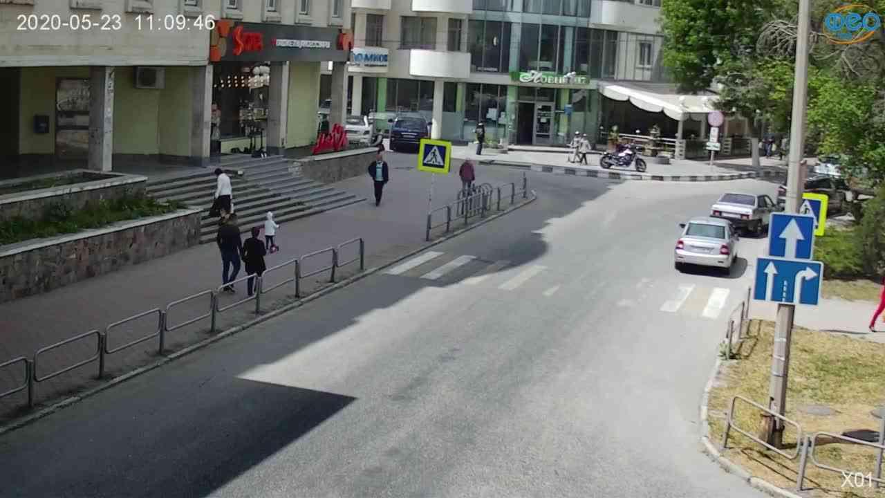 Веб-камеры Феодосии, Камера с видом на магазин Новый Свет, 2020-05-23 11:09:55