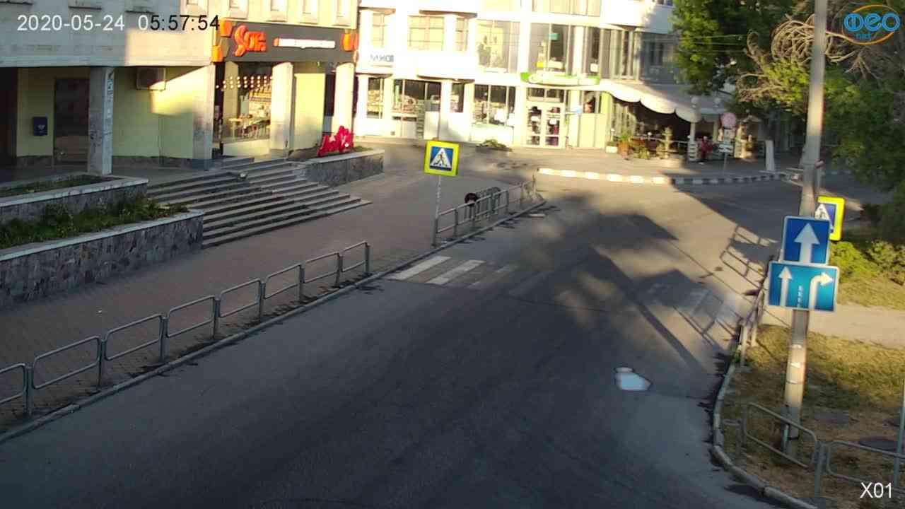 Веб-камеры Феодосии, Камера с видом на магазин Новый Свет, 2020-05-24 05:58:07