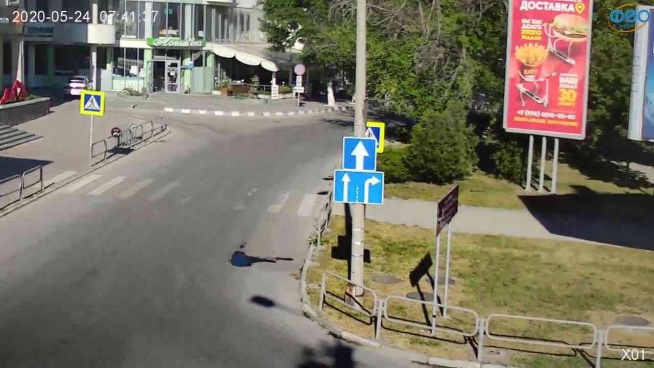 Веб-камеры Феодосии, Камера с видом на магазин Новый Свет, 2020-05-24 07:41:50