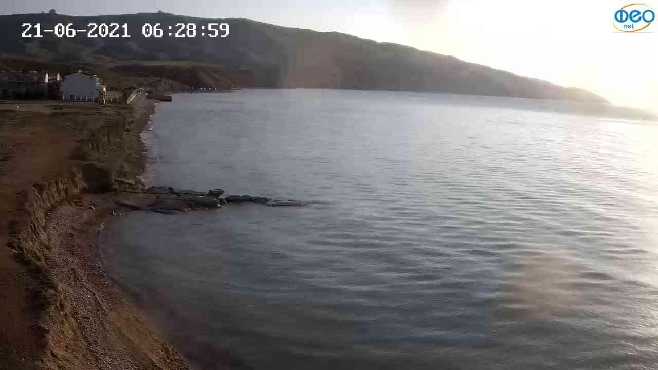 Веб-камеры Феодосии, Двуякорная бухта, Остров Иван-Баба, 2021-06-21 06:29:10