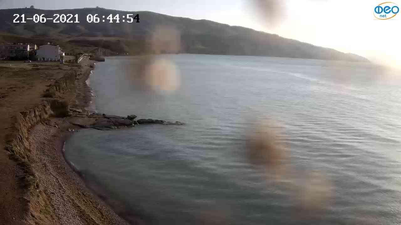 Веб-камеры Феодосии, Двуякорная бухта, Остров Иван-Баба, 2021-06-21 06:45:05
