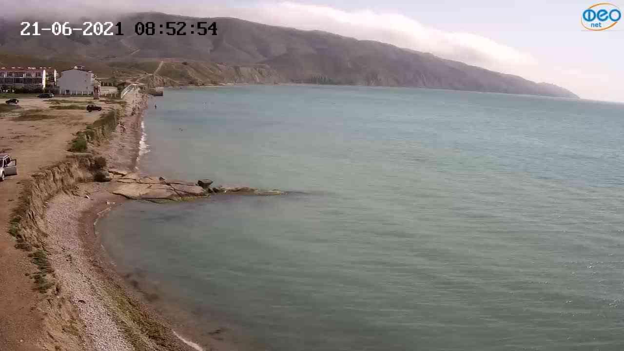 Веб-камеры Феодосии, Двуякорная бухта, Остров Иван-Баба, 2021-06-21 08:53:05