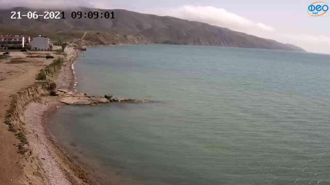 Веб-камеры Феодосии, Двуякорная бухта, Остров Иван-Баба, 2021-06-21 09:09:10