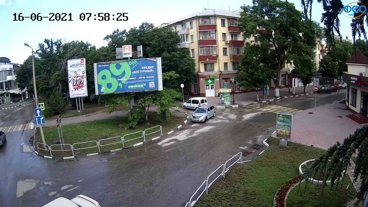 """Веб-камеры Феодосии, Магазин """"Новый Свет"""" - Переход, 2021-06-16 07:58:32"""